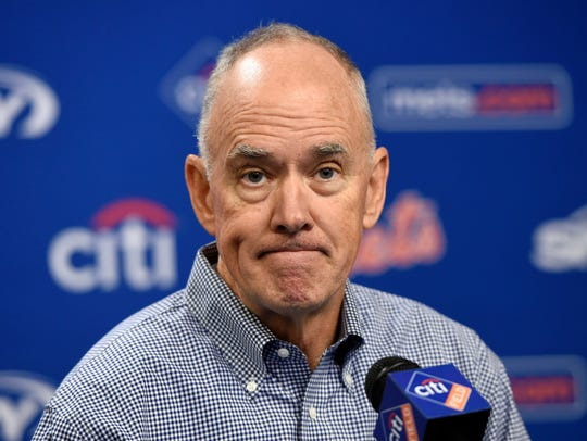 In this Oct. 6, 2015, file photo,  New York Mets general
