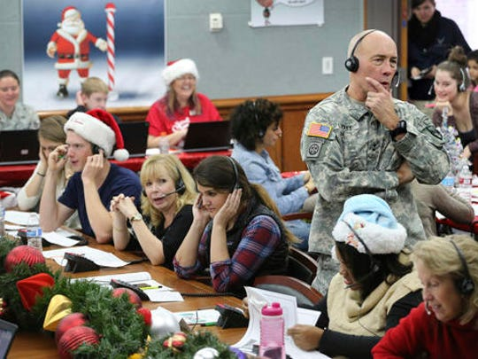 FILE - In this Dec. 24, 2014, file photo, NORAD and