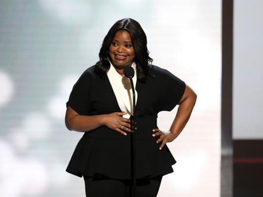 """FILE - This Feb. 11, 2017 file photo shows Octavia Spencer at the 48th annual NAACP Image Awards in Pasadena, Calif.  Spencer is nominated for an Oscar for best supporting actress for her role in """"Hidden Figures."""""""