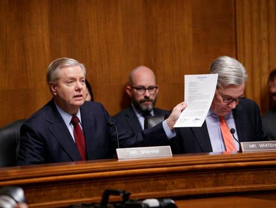 Sen. Lindsey Graham, R-S.C., chairman of the Senate
