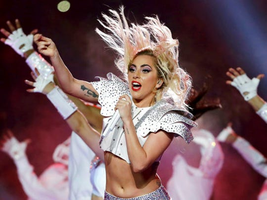 FILE - In this Feb. 5, 2017 file photo, Lady Gaga performs
