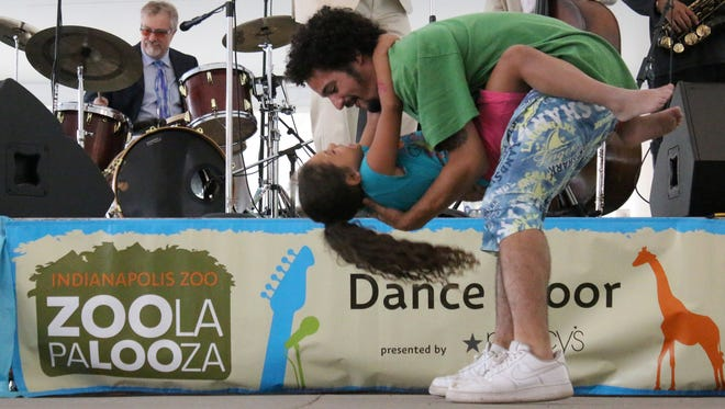 Dancing to the music is a family affair at Zoolapalooza.