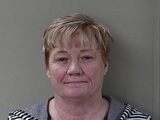 """Mary Ruth Hamilton, Kaleidoscope Custom Vapor Lounge (S. Church) in Murfreesboro, charged with possessing and selling a schedule VI drug in a drug free zone other than a school, was arrested as part of """"Operation Candy Crush,"""" Rutherford County's sting of CBD vendors."""