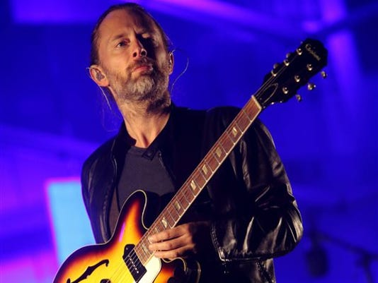 """FILE - In this Oct. 6, 2013, file photo, Thom Yorke performs at the 2013 Austin City Limits Music Festival in Austin, Texas. Yorke is going Broadway, as he's written original music for the upcoming revival of the play """"Old Times,"""" by Harold Pinter."""