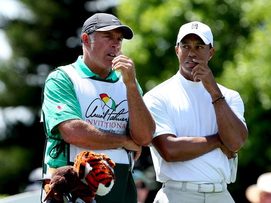 Tiger Woods, right, and former caddie Steve Williams.
