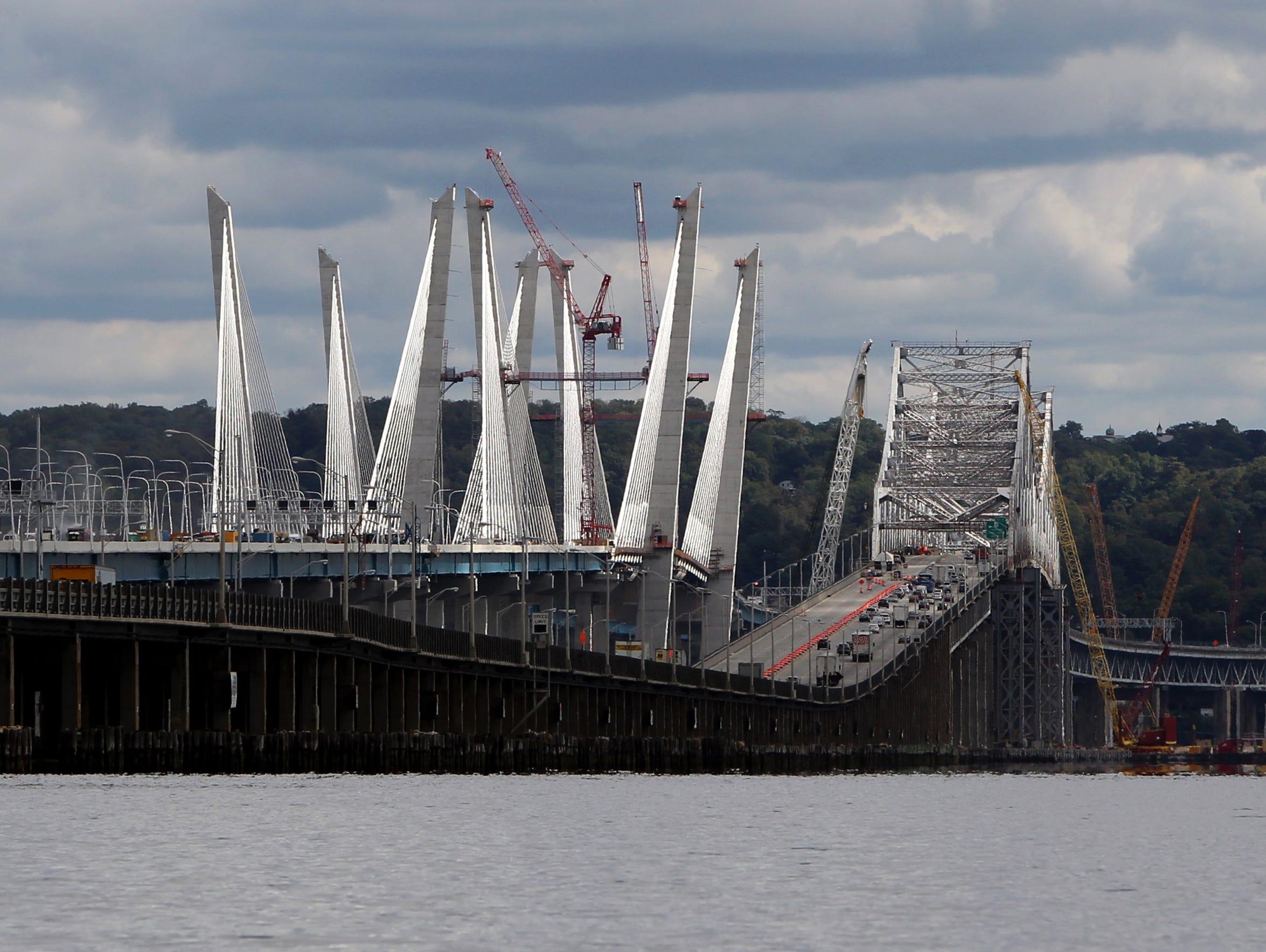 Traffic crosses the Gov. Mario M. Cuomo Bridge and