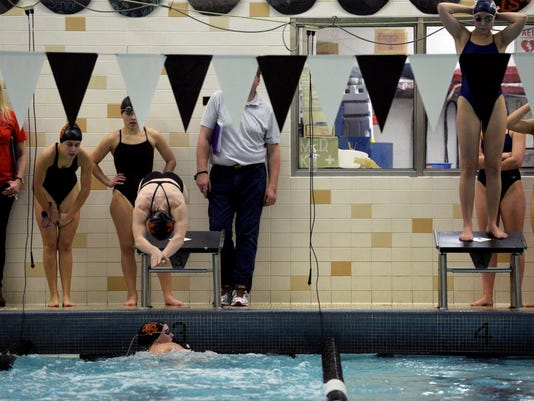 York Suburban's Madie Devaney heads to the surface at the Jan. 25th South Western Relays.