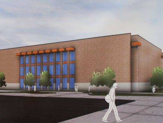 Rendering, exterior of new BHS pool, currently under construction