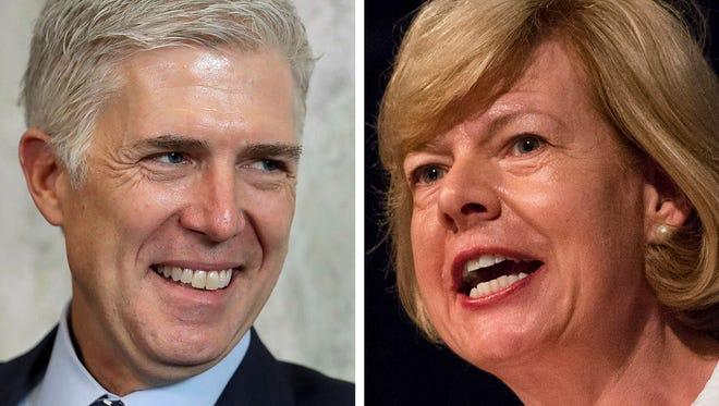 Supreme Court nominee Judge Neil Gorsuch met with Sen. Tammy Baldwin on Thursday.