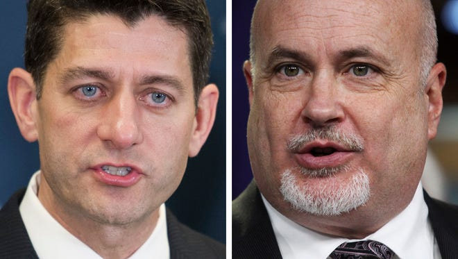 U.S. Rep. Mark Pocan (right) will go into House Speaker Paul Ryan's district Friday to listen to Ryan's constituents on health care and other issues.