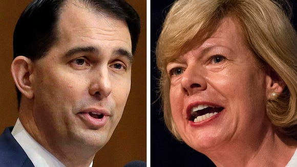 Wisconsin Republican Gov. Scott Walker and U.S. Sen.