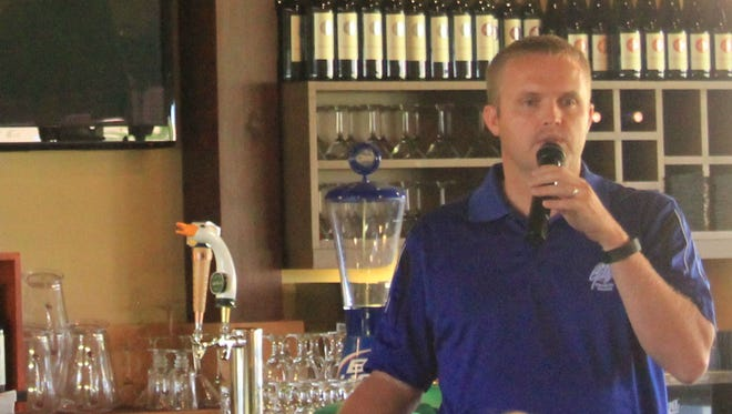 Cody Law, of Golf Mesquite, explained the impact golf has on Mesquite's economy during the Chamber of Commerce luncheon.