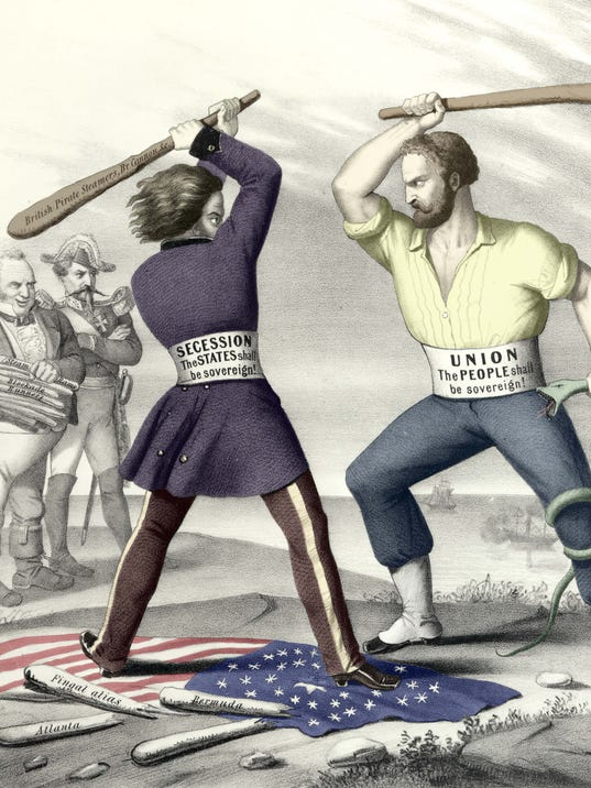 Secession vs. Union illustration, Harpers Weekly, 1863.jpg