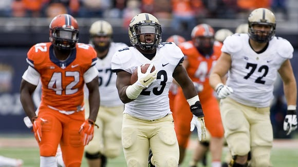 Keyante Green is the only Purdue running back with experience