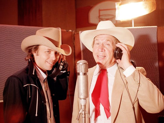 The music of Buck Owens, pictured in 1988 with Dwight Yoakam, left, will be celebrated on Feb. 5 at Radio Radio.