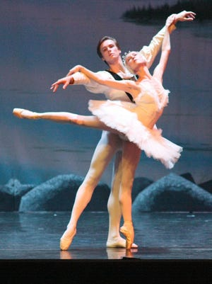 Arkadiy Orohovsky, left, of the Kiev State Ballet plays the Grinch Dec. 19 and 20 at Bozeman's Willson Auditorium.