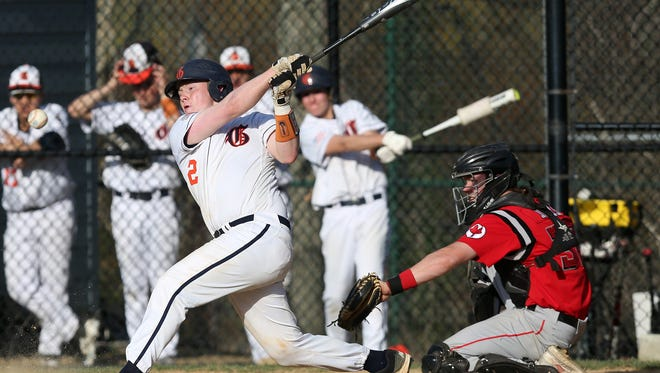 Fox Lane defeated Greeley 9-8 in baseball action at Horace Greeley High School in Chappaqua May 1, 2018.
