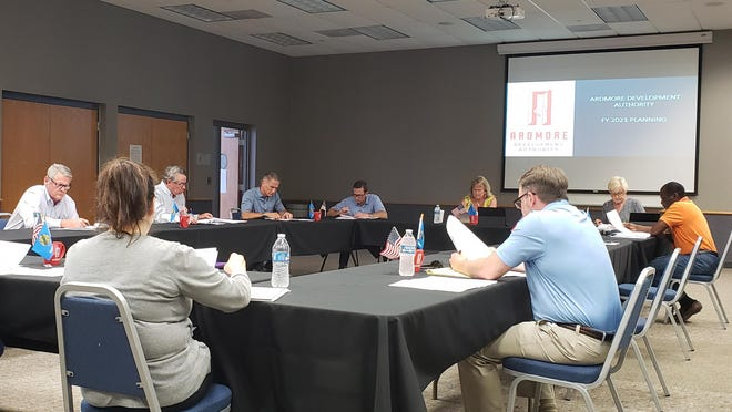 The Ardmore Development Authority meets Monday at the Ardmore Convention Center. The group chose to meet there instead of the Ardmore Chamber of Commerce in order to more easily practice social distancing guidelines.