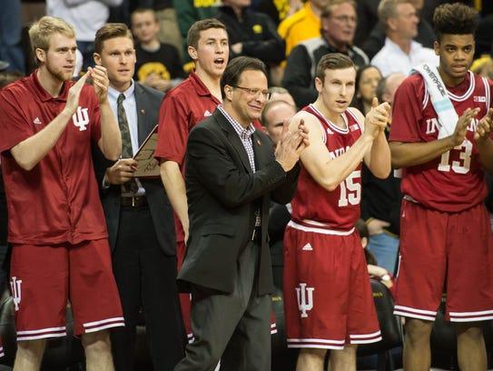 Indiana Hoosiers head coach Tom Crean and the Hoosiers