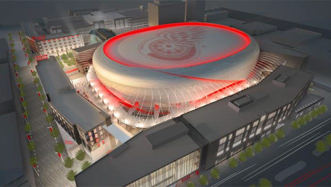 The proposed new Detroit Red Wings arena