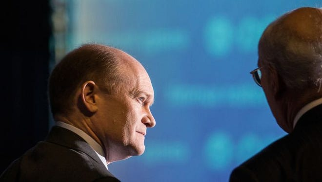 """""""America's political system is broken,"""" U.S. Sen. Coons, D-Del., said in a written statement."""