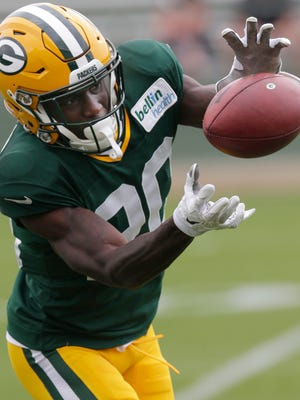 Jul 28, 2016; Green Bay,WI, USA; Green Bay Packers rookie cornerback Makinton Dorleant (2) participates in drills during the training camp across from Lambeau Field. Mandatory Credit: Mark Hoffman/ via USA TODAY Sports