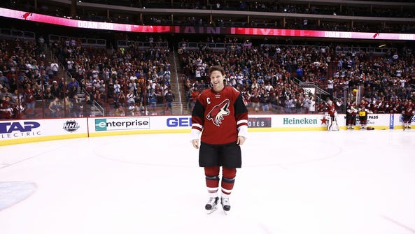 Arizona Coyotes captain Shane Doan was honored during