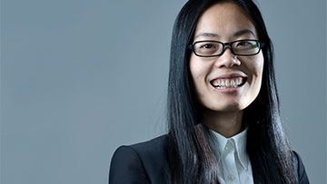 Ru Chen, a University of Delaware graduate student, and her team have developed a stretchable electronic sensor.