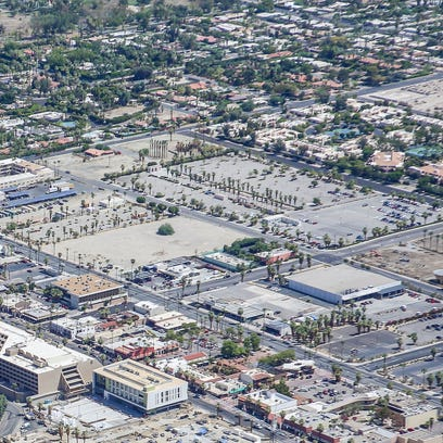 An aerial view of Section 14 in downtown Palm Springs.