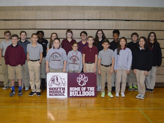 South Middle November students of the month