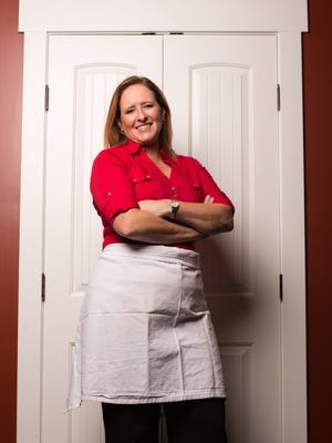 """Ellen Adams poses for a portrait at her home in Webster on Nov. 7, 2015. Adams will appear on """"Chopped"""" on Food Network on Nov. 10."""