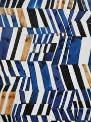 """Kate Roebuck, """"Cobalt and Ochre,"""" watercolor and ink"""