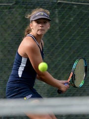 Meghan Salaga is one of three returning singles starters for the Dallastown girls' tennis team. DISPATCH FILE PHOTO