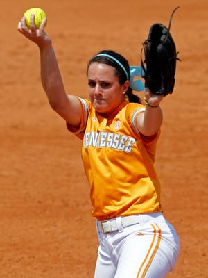 Ellen Renfroe Reed — shown here pitching for Tennessee during NCAA Regionals in 2011 — has been hired as the softball coach for Lakeway Christian Academy.