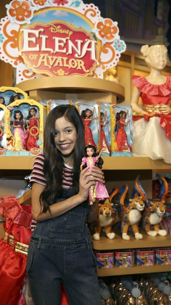 Jenna Ortega, voice of Elena's sister Isabel celebrates