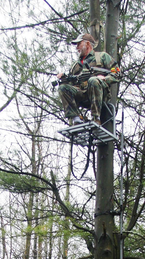 Tree stands are popular for deer hunting, but hunters