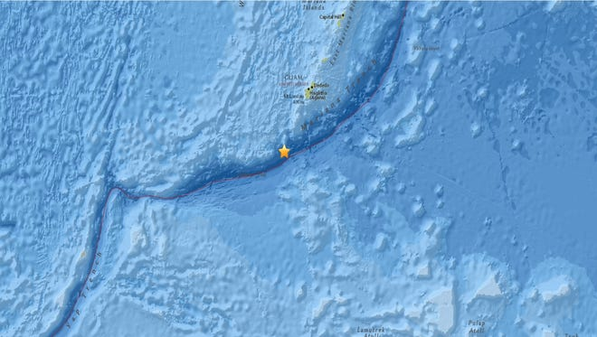 A 5.1 magnitude earthquake rocked Guam on Jan. 3, 2017 morning, according to the U.S. Geological Survey.