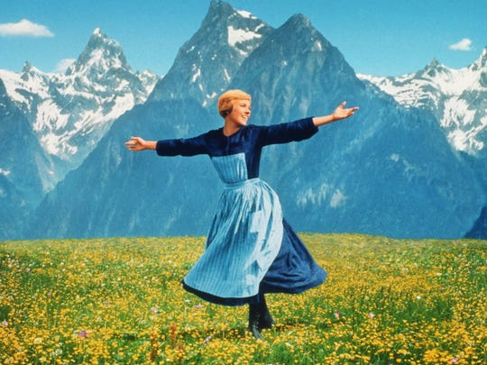 "Julie Andrews appears in the 1965 film ""The Sound of Music."""