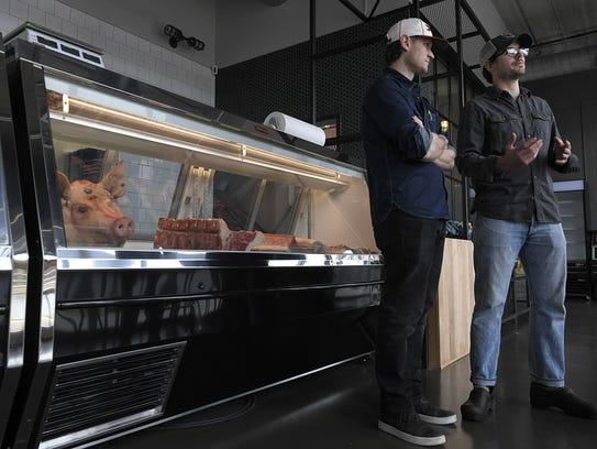 Bare Bones Butcher co-owners Patrick Davidson and Wesley
