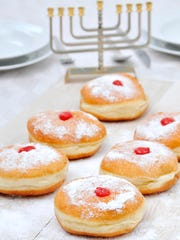 Fried jelly doughnuts are a treat enjoyed on Chanukah.