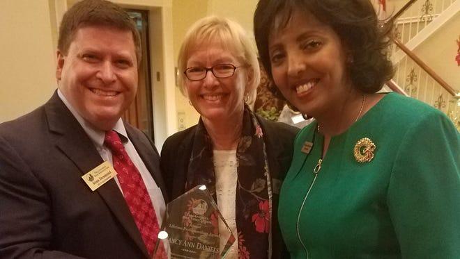 Nancy Daniels is awarded the Tallahassee Bar Association Lifetime Professionalism Award