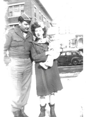 Lt. Gerald C. LeBlanc, his wife, Mercedes, and his infant son, Jerry.