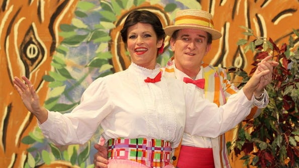 Mary (Missi Patti) and Bert (Jeffrey Bassett) take some time out for a jolly holiday.