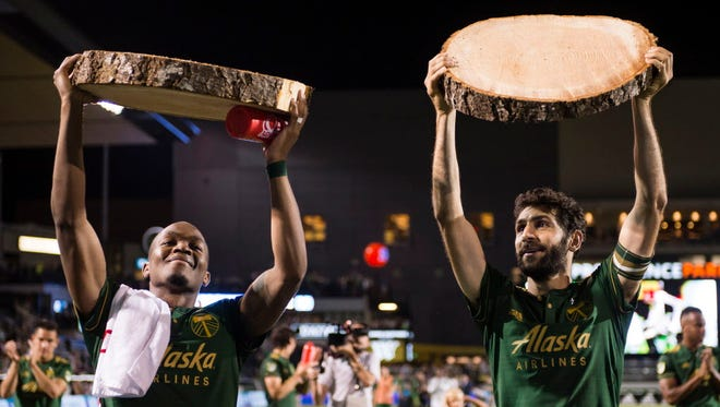 Diego Valeri (right, with Darlington Nagbe) has helped vault the Portland Timbers into playoff contention.