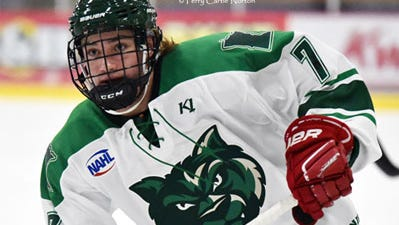 Ben Ward of Annandale is playing junior hockey this season for the Minnesota Wilderness of the North American Hockey League. Ward, a center, recently verbally committed to play for St. Cloud State.