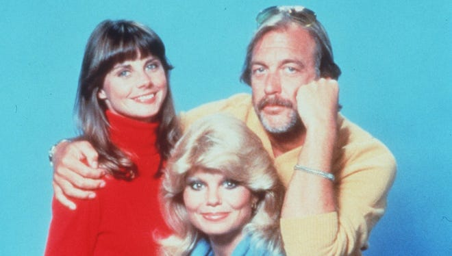 """WKRP in Cincinnati"" stars (from left) Jan Smithers, Loni Anderson and Howard Hesseman participated in the 35th anniversary panel discussion June 4."