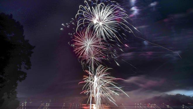 The Spirit of Kansas fireworks display will begin at 10 p.m. July 4 at Lake Shawnee.