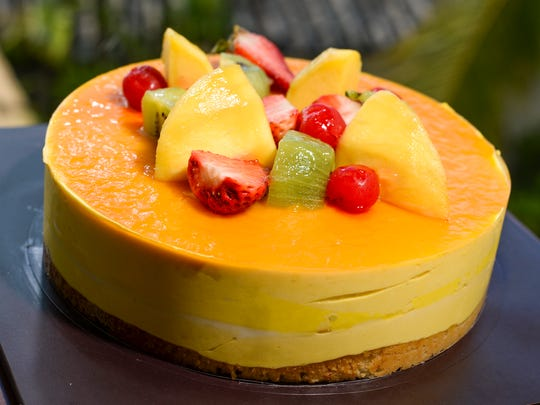 A mango tropical cake as seen at the Lotte Hotel Guam lobby in Tumon on Monday, Dec. 21.