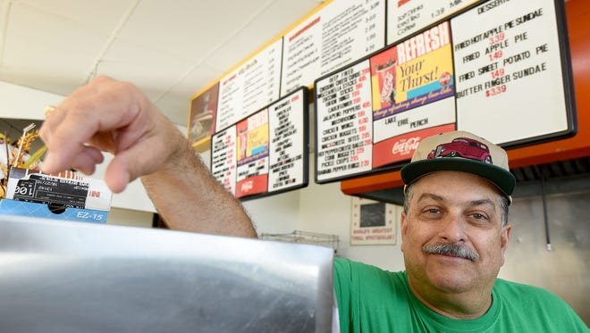 John Matthes is running the Wiener King restaurant temporarily with help from employees and friends while owner Jimmy Smarjeff is recuperating from heart surgery.