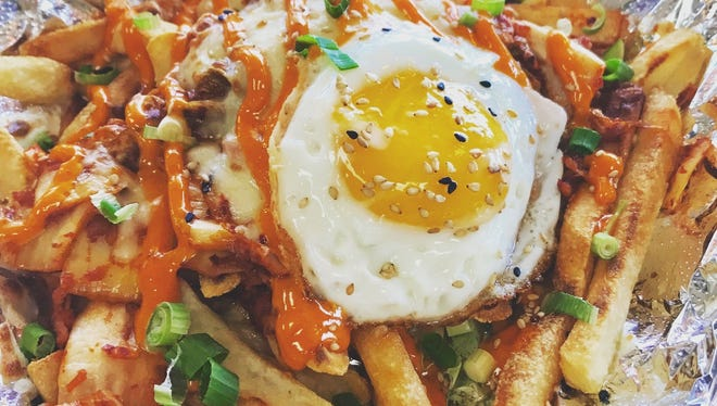 These are not your plain fries -- Kimcheesefries by Kimchi Mama in Fair Lawn